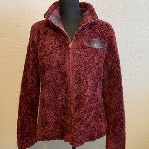 Pendleton zip front fluffy Sherpa jacket size Med